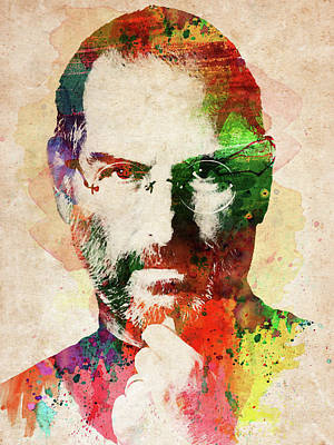 Digital Art - Steve Jobs Colorful Portrait by Mihaela Pater