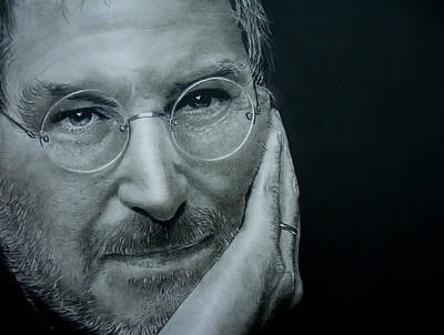 Drawing - Steve Jobs by Mickey Raina