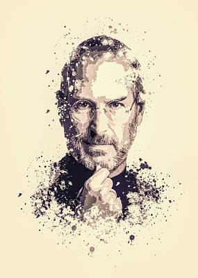 Steve Jobs Painting - Steve Jobs Splatter Painting by MP Art