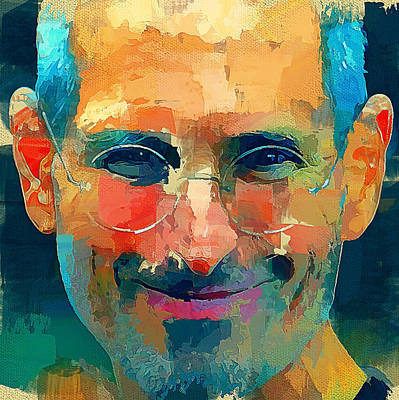 Excellent Digital Art - Steve Jobs The Legend by Yury Malkov