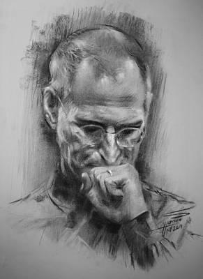 Steve Drawing - Steve Jobs by Ylli Haruni