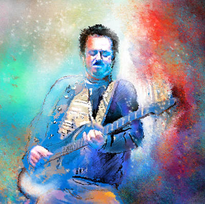 Music Paintings - Steve Lukather 01 by Miki De Goodaboom
