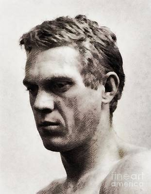 Musicians Royalty Free Images - Steve McQueen, Actor Royalty-Free Image by Esoterica Art Agency