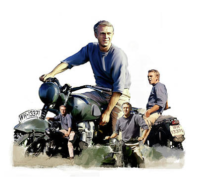 Steve Mcqueen Art Painting - Steve Mcqueen  Captain Hilts by Iconic Images Art Gallery David Pucciarelli