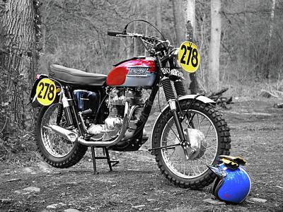 Motor Photograph - Steve Mcqueen Isdt 1964 by Mark Rogan