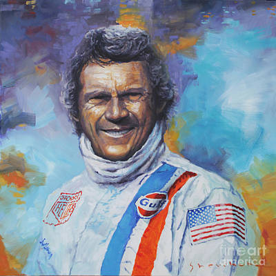 1970 Painting - Steve Mcqueen Le Mans Porsche 917 02 by Yuriy Shevchuk