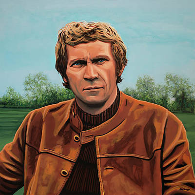 1970s Movies Painting - Steve Mcqueen Painting by Paul Meijering