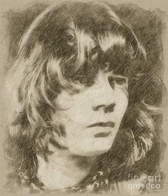 Fantasy Drawings - Steve Miller, Musician by Frank Falcon