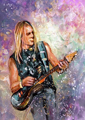 Painting - Steve Morse by Miki De Goodaboom