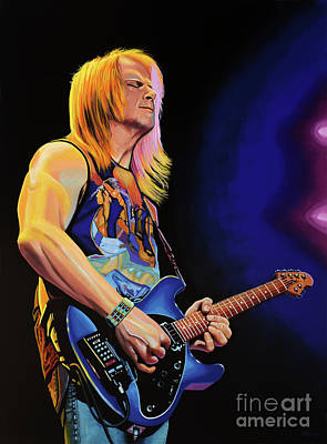 Steve Morse Painting Art Print by Paul Meijering