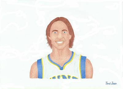 Pheonix Drawing - Steve Nash by Toni Jaso