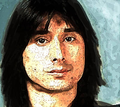 Journey Painting - Steve Perry  Journey  by Enki Art