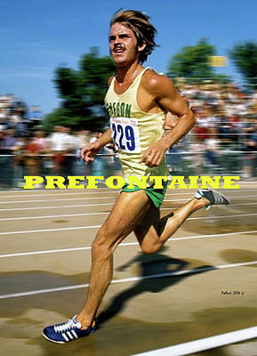 Dave Mixed Media - Steve Prefontaine, The Legend by Thomas Pollart