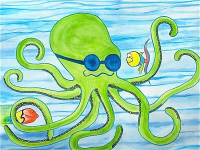 Painting - Steve The Octopus by Erika Swartzkopf