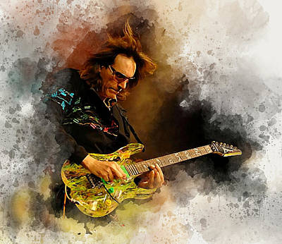Steve Vai Digital Art - Steve Vai by Karl Knox