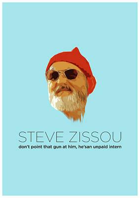 Anderson Digital Art - Steve Zissou by Semih Yurdabak