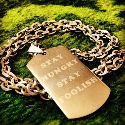 Steel Photograph - #stevejobs #sayings #steel #present by Jakub Horsky