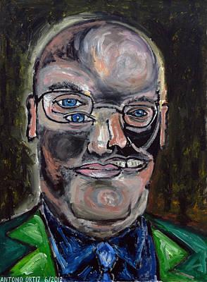 Larry David Painting - Steven A. Cohen      by Antonio Ortiz