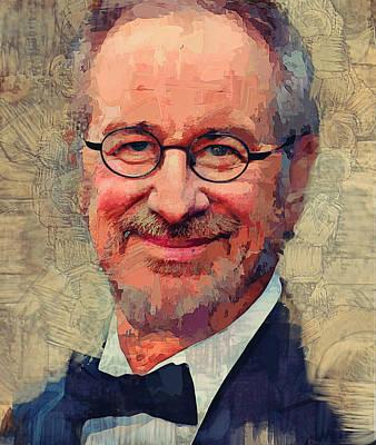 Digital Art - Steven Spielberg Portrait by Yury Malkov