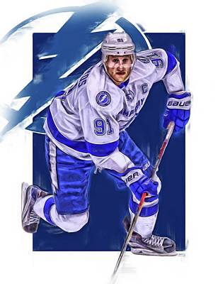 Steven Stamkos Tampa Bay Lightning Oil Art Series 1 Art Print