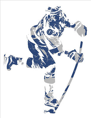 Mixed Media - Steven Stamkos Tampa Bay Lightning Pixel Art 1 by Joe Hamilton