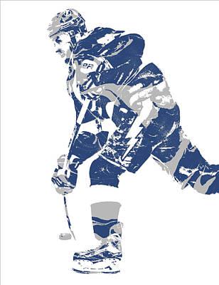 Mixed Media - Steven Stamkos Tampa Bay Lightning Pixel Art 2 by Joe Hamilton