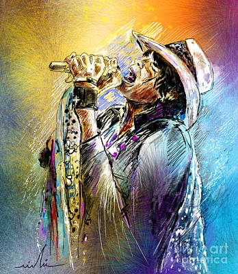 Steven Tyler Mixed Media - Steven Tyler 01  Aerosmith by Miki De Goodaboom