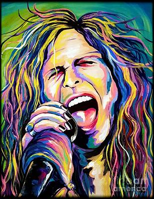 Steven Tyler Art Print by Amy Belonio