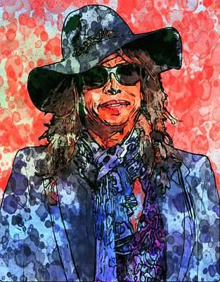 Steven Tyler Digital Art - Steven Tyler by Bob Smerecki