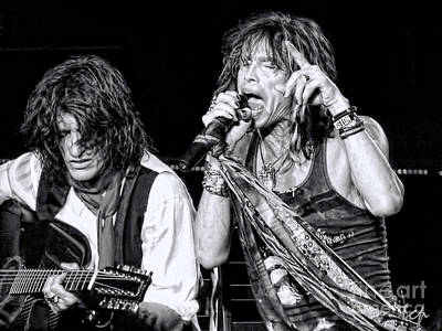 Aerosmith Photograph - Steven Tyler Croons by Traci Cottingham