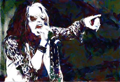 Steven Tyler Digital Art - Steven Tyler by Galeria Trompiz