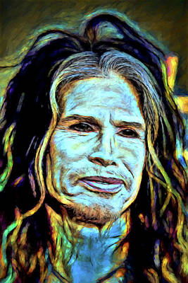 Digital Art - Steven Tyler by John Haldane