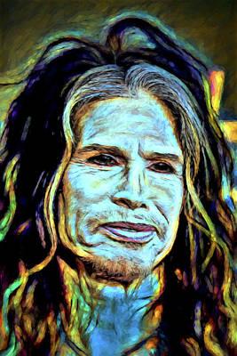 Steven Tyler Digital Art - Steven Tyler by John Haldane