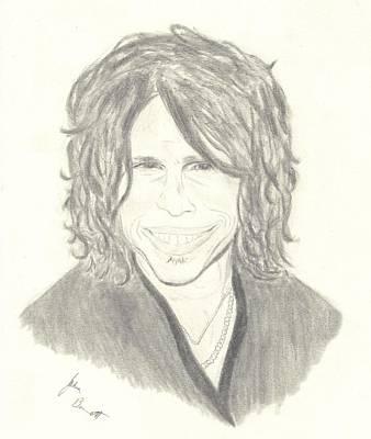 Steven Tyler Drawing - Steven Tyler by Josh Bennett