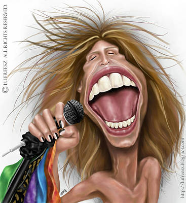 Steven Tyler Digital Art - Steven Tyler by Lu Freesz