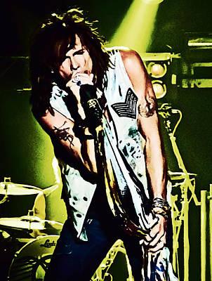 Steven Tyler Digital Art - Steven Tyler On Stage by Joy McKenzie