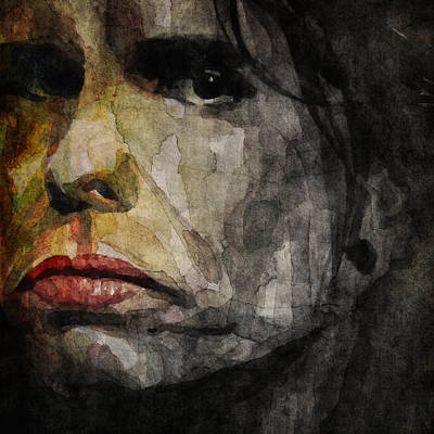 Steven Tyler  Art Print by Paul Lovering