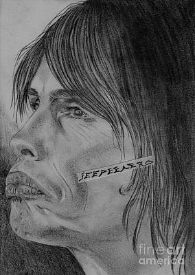 Art Print featuring the drawing Steven Tyler Portrait Drawing Image Picture by Jeepee Aero