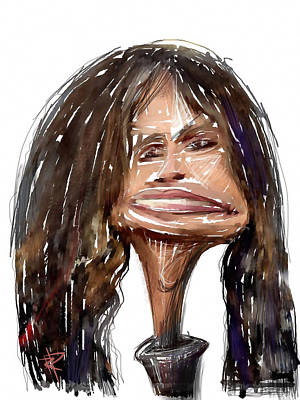 Steven Tyler Mixed Media - Steven Tyler by Russell Pierce