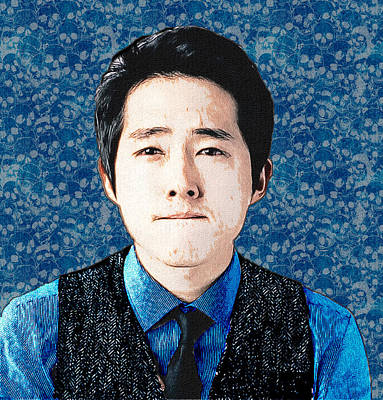 Photograph - Steven Yeun - Glenn Rhee by Ericamaxine Price