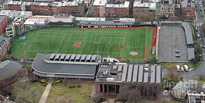 Photograph - Stevens Institute Of Technology De Baun Athletic Complex Aerial  by David Oppenheimer