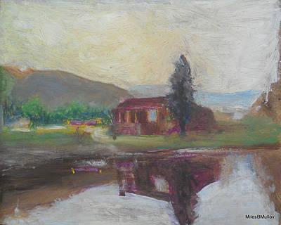 Stevensville Mt Art Print by Miles Mulloy