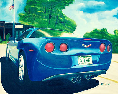 Steve's Corvette Art Print
