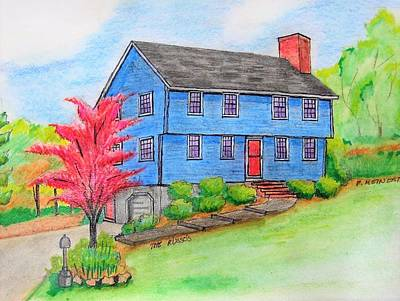 Drawing - Steve's House by Paul Meinerth