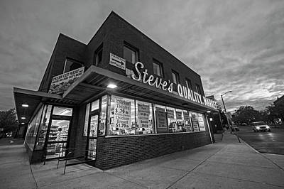 Photograph - Steve's Quality Market Downtown Salem Ma Black And White by Toby McGuire