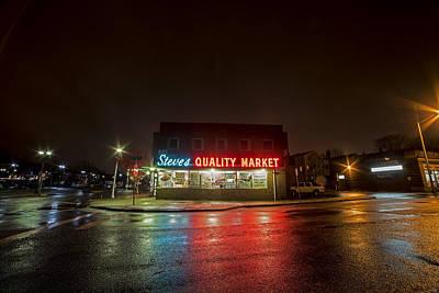 Photograph - Steve's Quality Market Downtown Salem Ma Massachusetts Reflection by Toby McGuire