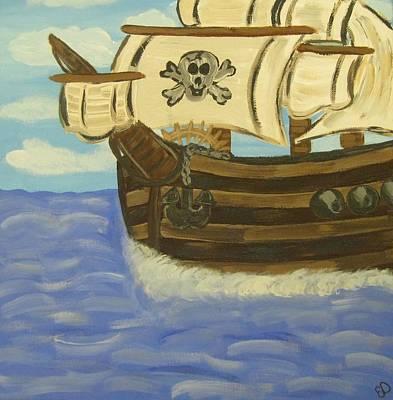 Steve's Spooky Ship Art Print by Eva  Dunham