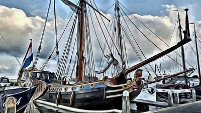 Photograph - Steve's Tall Ship In Amsterdam by Lanita Williams