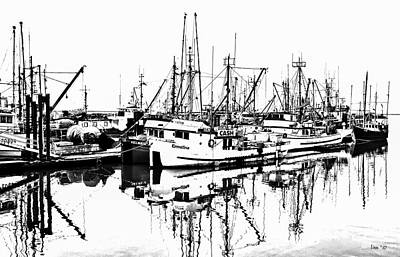 Digital Art - Steveston Harbor by Bill Linn