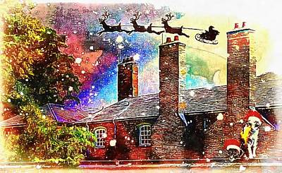 Mixed Media - Stevie Mouse And Emmy Spend Christmas At An English Country House by Dorothy Berry-Lound